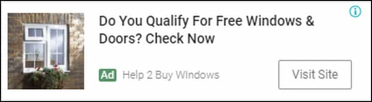 Help to Buy Windows Advert