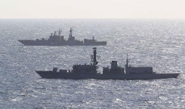 Russian ship in English Channel