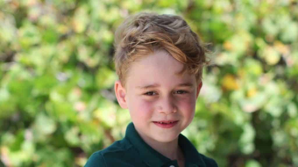 Prince George in green polo