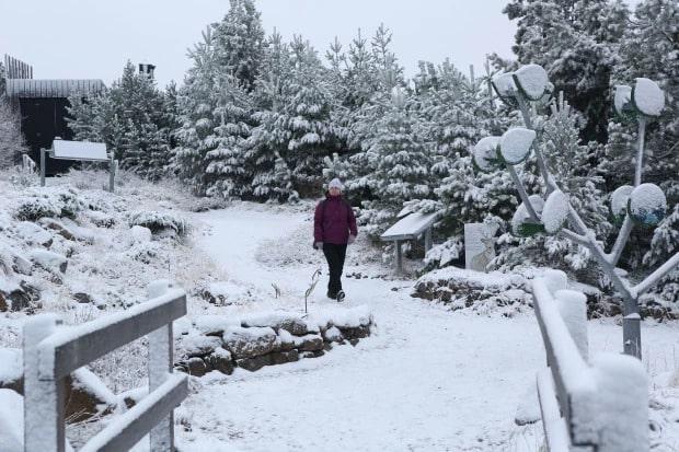 Cairngorm snowfale