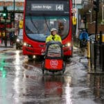 London Commuter in Rain