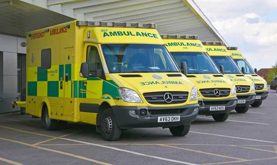 ambulances have holes drilled in tyres