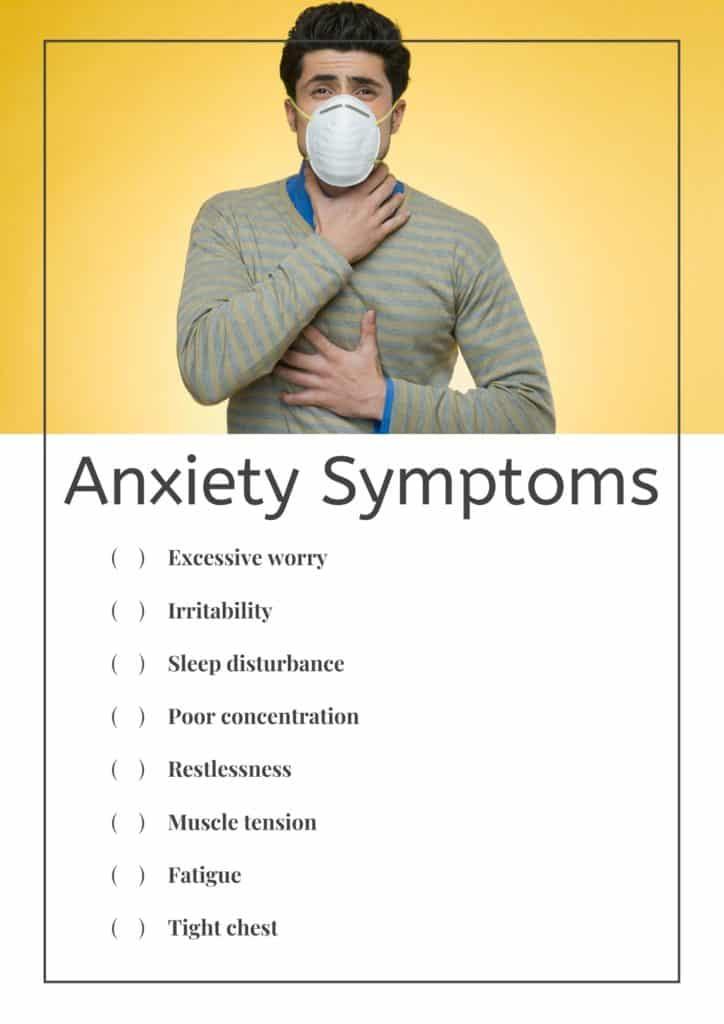 Anxiety symptoms checklist