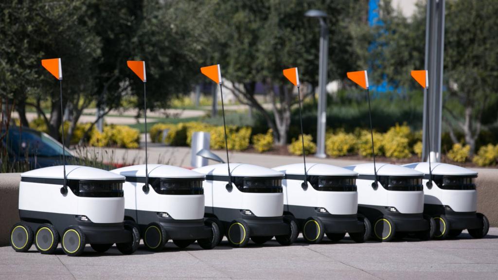 Fleet of shopping robots