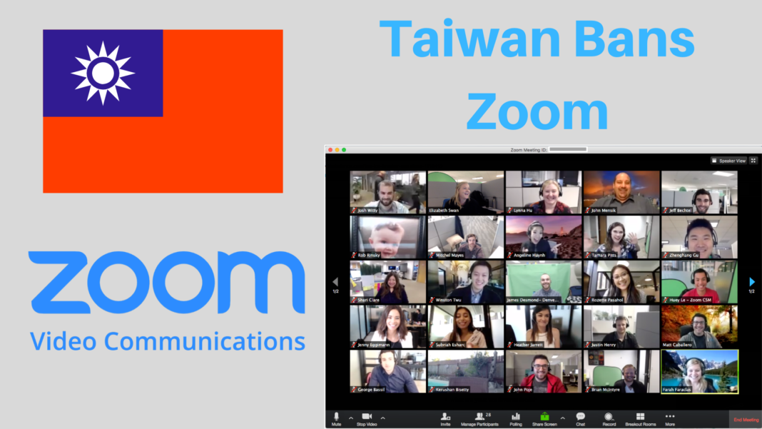 Zoom banned in Taiwan over China security fears