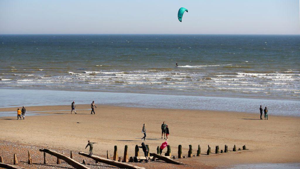 Beach users in UK