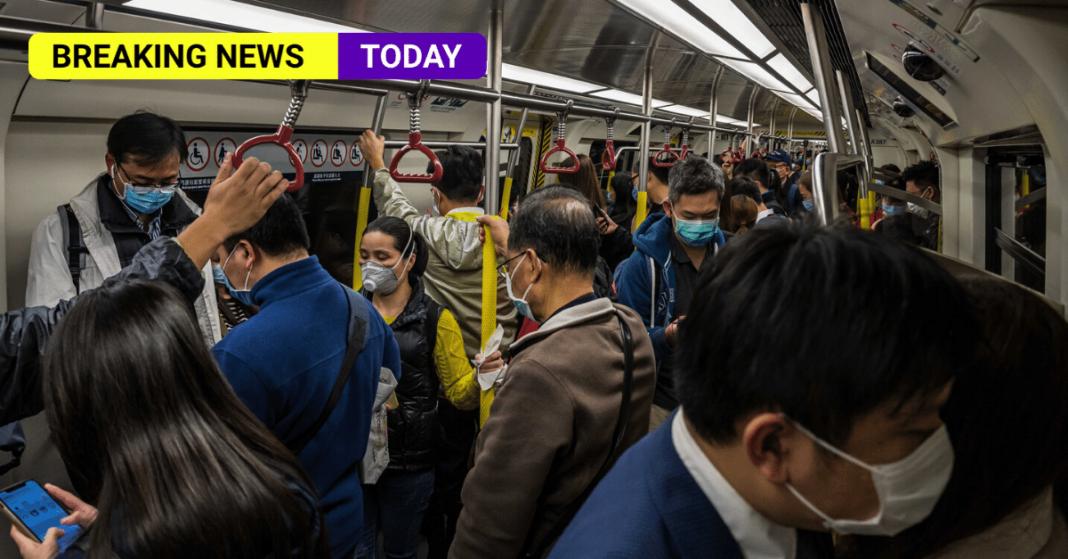 Crowded underground train