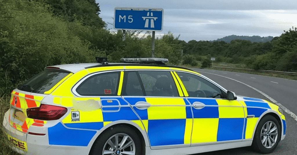 Devon and Cornwall Police stopped a vehicle on the M5 near Exeter