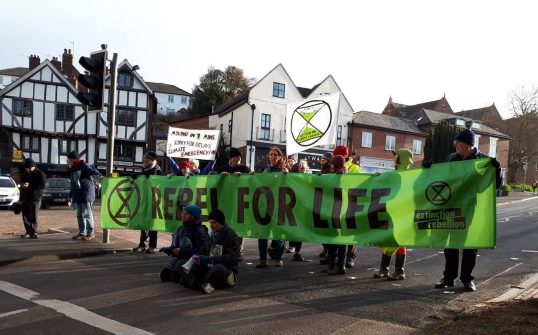 Extinction Rebellion Held Bike Ride To 'Reclaim The Streets'