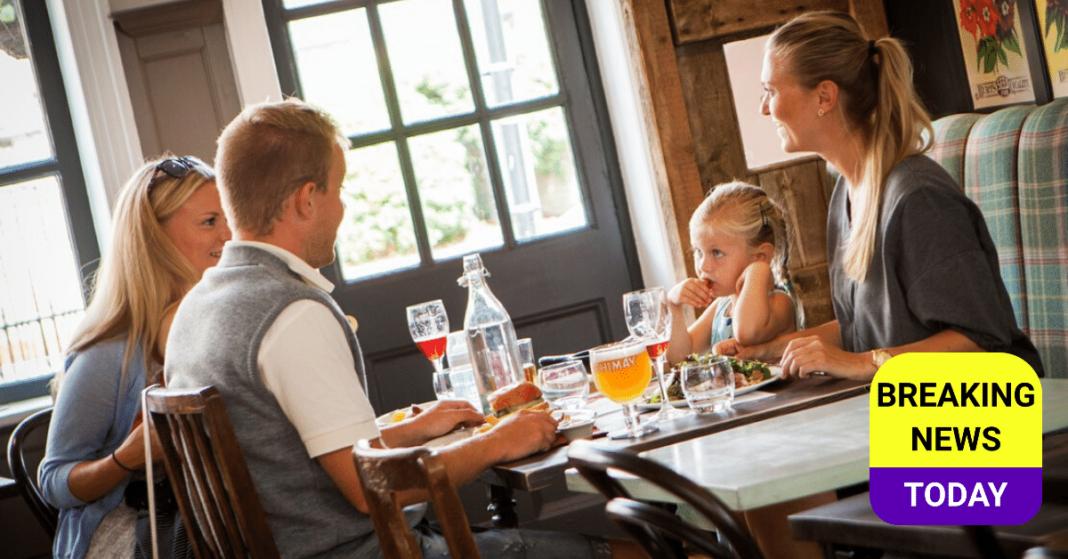 Family in a pub