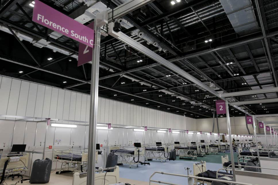 London Nightingale hospital to go 'on standby'
