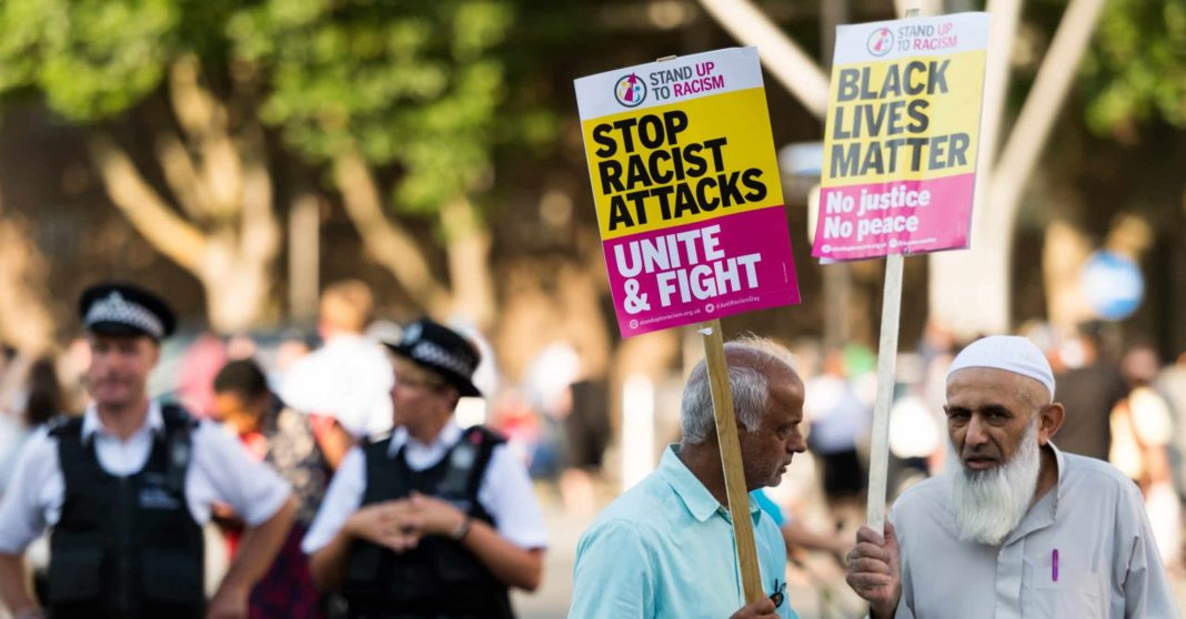 Hate crime in England and Wales hits new record
