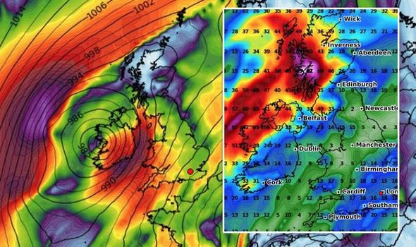Storm Barbara hits UK with heavy rain and gale force winds