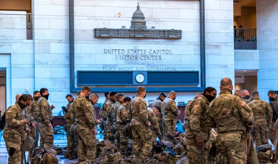 FBI vets 25,000 National Guard over fears of attack at inauguration
