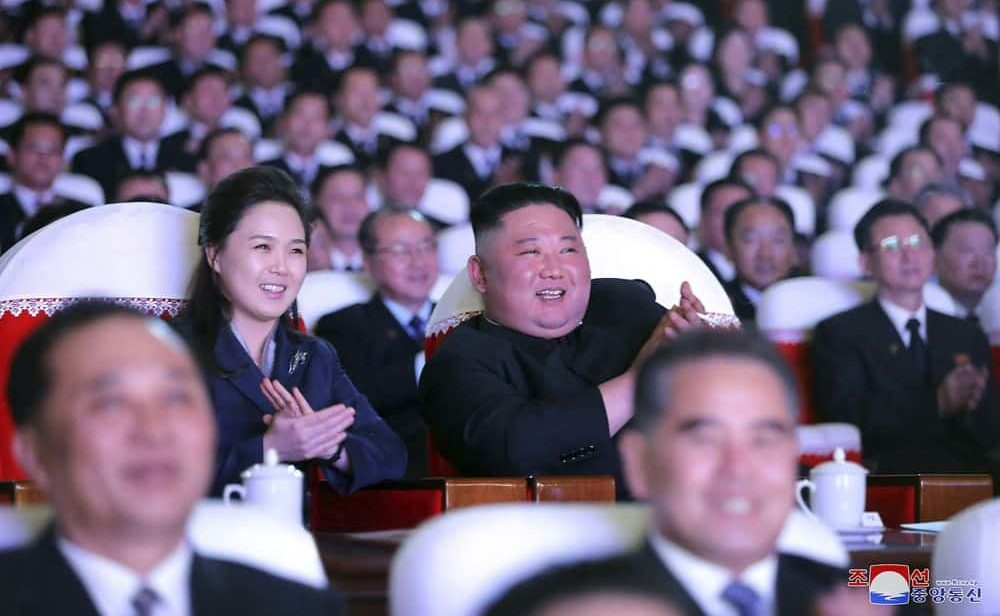 North Korean leader's wife seen in public for first time in over a year