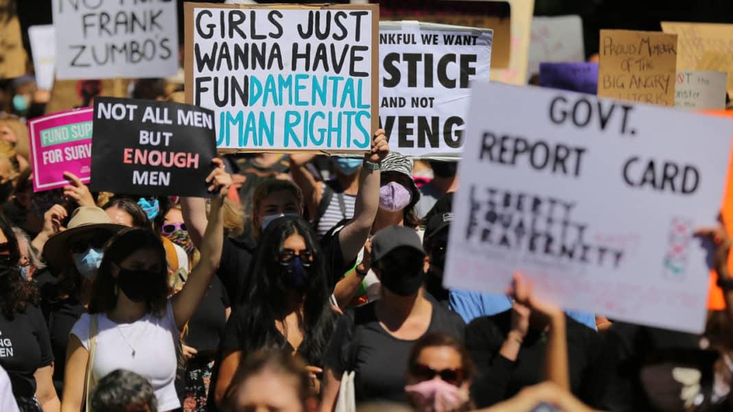 Thousands of Australians march against sexual assault