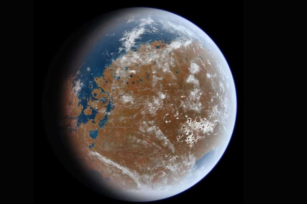 Vast amounts of water on Mars could be locked up under the surface