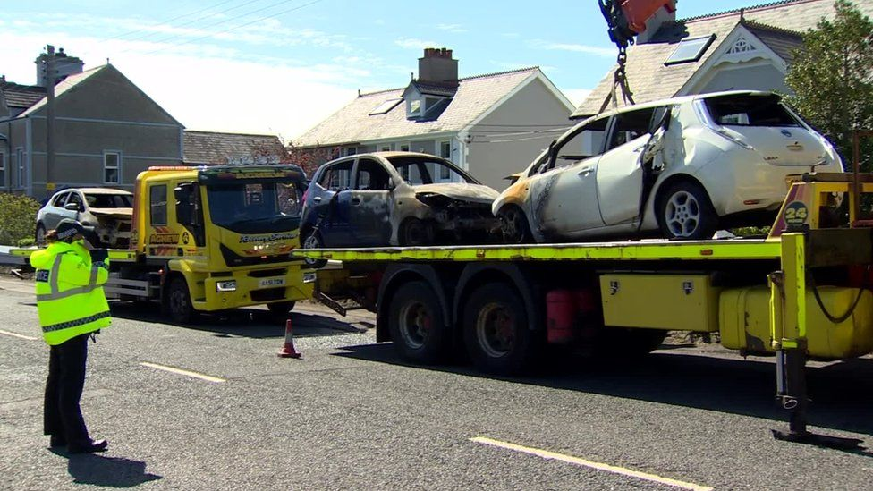A firefight at the home of a Northern Irish police officer
