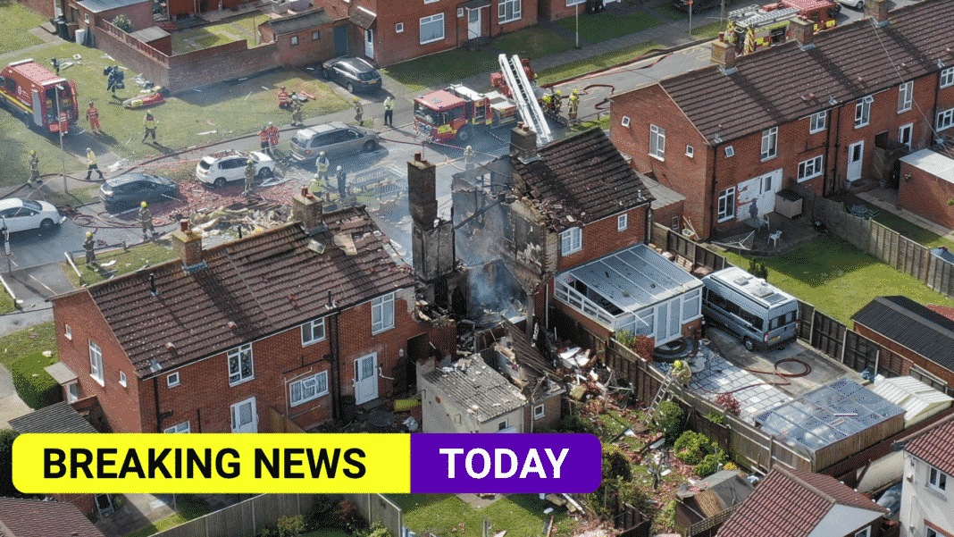 Reports of explosion and people trapped as fire at house in Ashford