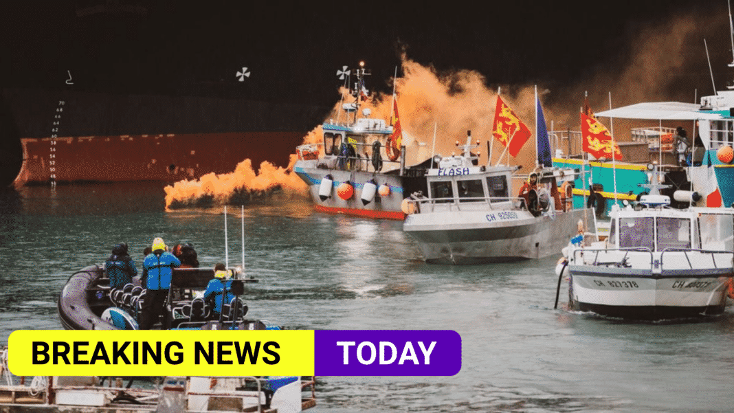 French fishing boats leave Jersey after post-Brexit rights protest