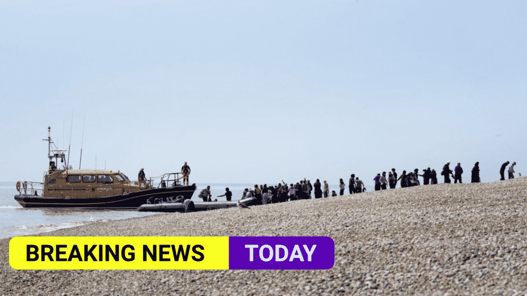 Highest total of migrants arrive in the UK in a single day