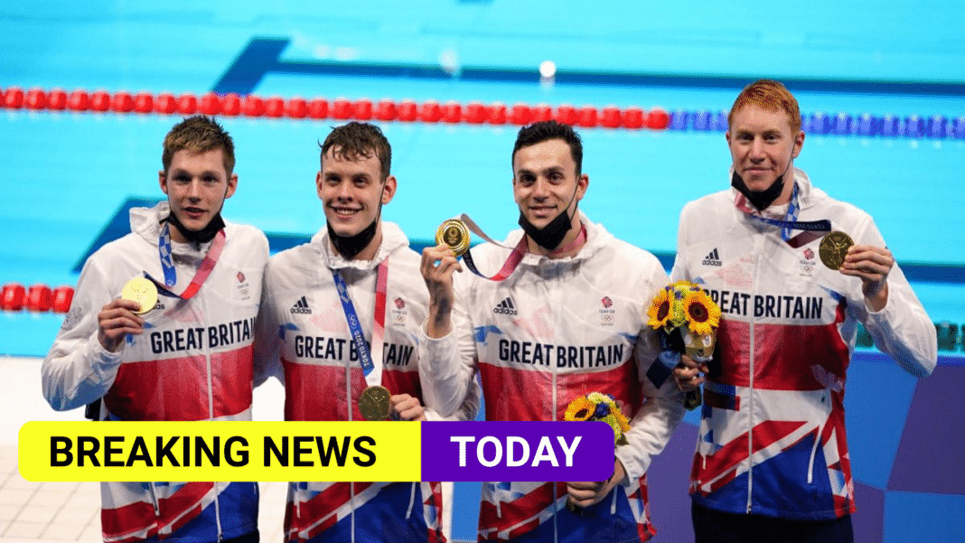 Further success in the pool as Team GB win 200m freestyle relay
