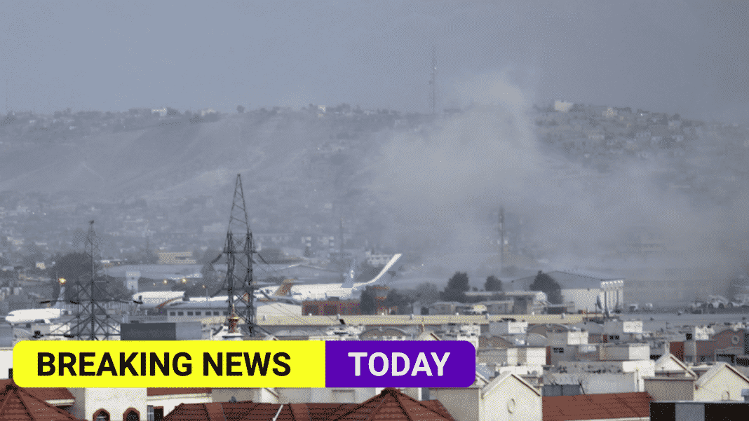 Two explosions outside Kabul airport, with reports of several casualties