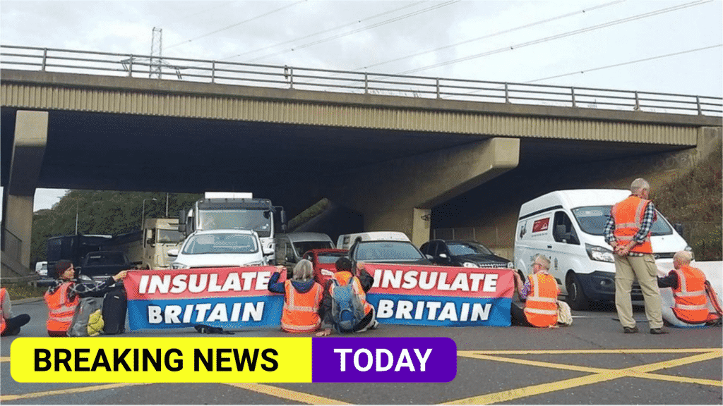 30 arrested and drivers delayed after climate activists block parts of M25