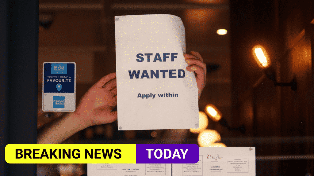 Job vacancies hit record high as staff on payrolls back to pre-Covid levels